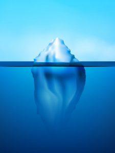 氷山の一角潜在意識顕在意識